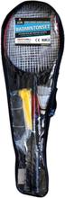 SportMe Badmintonset (4 racket, 2 bollar och 1 nät)