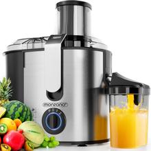Juicer for frukt og grønnsaker - rustfritt stål
