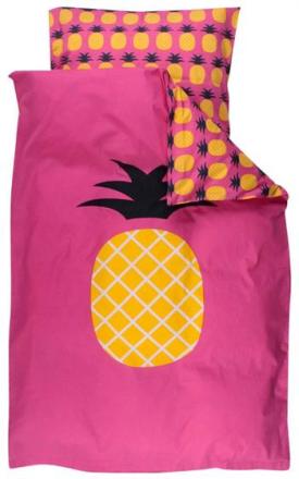 Økologisk Baby sengetøj - Freds World - 70x100 cm - Ananas - Home-tex