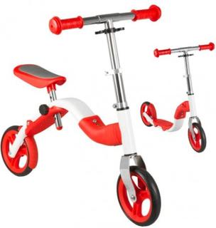 2i1 Anlen Løbecykel Løbehjul Rød