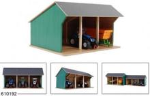 Kids Globe Traktor Garage med plads til 3 stk Model 2020