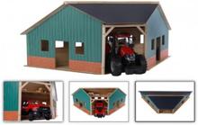 Kids Globe Traktor Garage Vinkel Passer til BRUDER 1:16