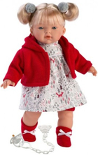 Llorens dukke 33 cm Aitana med rød trøje