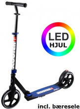 RASK 200 mm LED Løbehjul Blå med Bæresele