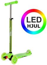 NILS Trehjulet Løbehjul grøn LED -2 -12 år