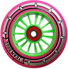 Team Dogz 100 mm Pink Grøn Komplet Hjul - 1 stk