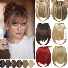Human Hair Extensions Clip In/on Fringe Front Hairpiece 6a#
