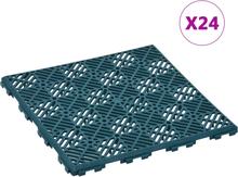 vidaXL Trädgårdsplattor 24 st grön 29x29 cm plast