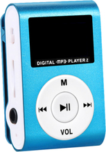 Mini Mp3 Usb Clip Mp3 Player Lcd Screen Support Micro Sd Tf Card Blue