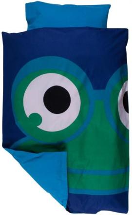 Økologisk Baby sengetøj - Freds World - 70x100 cm - Frø blå - Home-tex