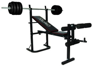 Weight Bench with 40kg Barbell Set