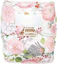 Anavy - Wollüberhose Gr.1 (3-7 kg) - Roses - aus Bio-Merinowolle (Klettverschluss & Druckknopf) - Klettverschluss