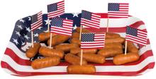 24 stk Mat / Kakeflagg - American Party