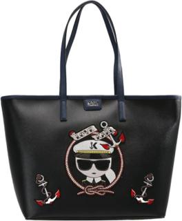 KARL LAGERFELD CAPTAIN SHOPPER KARL Shopping bags black