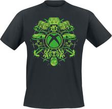 Xbox - Illustrated Icons -T-skjorte - svart