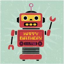 Kort födelsedag robot