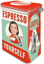 Kaffeburk espresso yourself med knäpplock