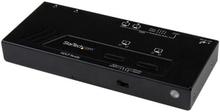 2x2 HDMI-matrisswitch med automatisk och prioriterad växling – 1080p