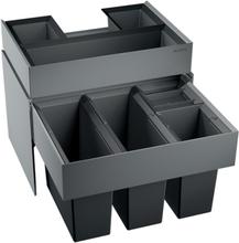 Blanco Select 60/4 ORGA Avfallssystem, 4 bøtter& skuffe, Montering i skap med uttrekk