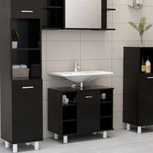 vidaXL badeværelsesskab 60x32x53,5 cm spånplade sort
