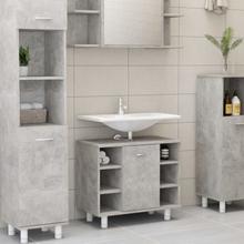 vidaXL badeværelsesskab 60x32x53,5 cm spånplade betongrå