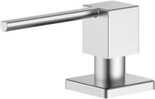 Nivito firkantet sæbedispenser i børstet stål