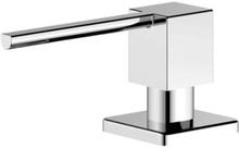 Nivito firkantet sæbedispenser i blankt stål
