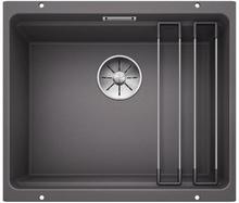 Blanco Etagon 500-U UXI Kjøkkenvask 53x46 cm/InFino kurvventil, Silgranit Klippegrå