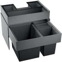 Blanco Select XL 60/3 ORGA Avfallssystem, 3 spann & skuffe, Montering i skap med uttrekk