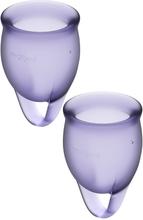 Satisfyer - Feel Confident Menstrual Cup, Purple (2 pack)