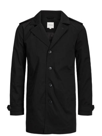 JACK & JONES Classic Trenchcoat Men Black