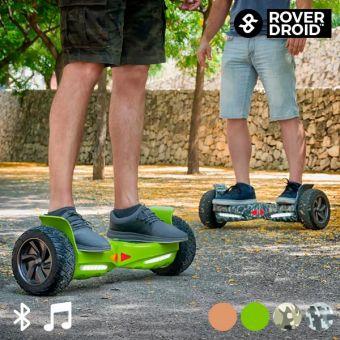 Electrisk Hoverboard Bluetooth Scooter med Rover Droid Stor 190 Højttaler - Farve: Minecraft - Coolpriser