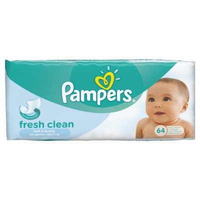 Pampers Fresh Clean Baby Wipes 64 kpl