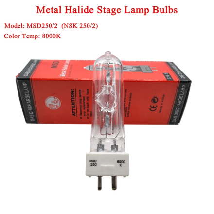 2019 New HARBO Stage DJ Light Lamp MSD 250/2 MSD250W Watts 90V MSR Bulb NSD 8000K Metal Halogen Lamp Moving Head Lights Bulbs