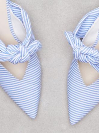 Heels - Blå NLY Shoes Knot Pump