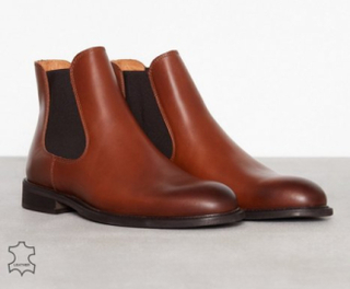 Selected Homme Slhbaxter Chelsea Leather Boot B No Chelsea boots Lysebrun