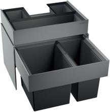 Blanco affaldssystem Select 60/2 Orga montering på låge med udtræk, 2 spande