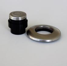 InSinkErator dækkappesæt i børstet rustfri stål