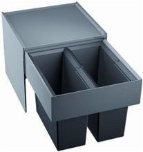 Blanco affaldssystem Select 45/2 montering på låge med udtræk, 2 spande