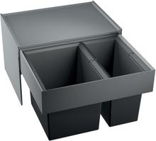 Blanco affaldssystem Select 60/2 montering på låge med udtræk, 2 spande