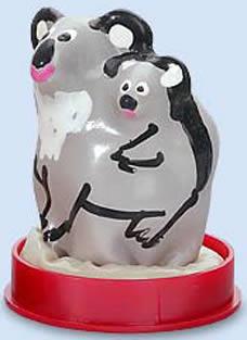 Koala bjørn med unge - figur kondom