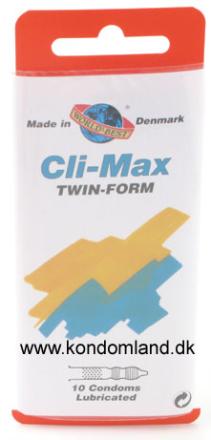 10 stk. WORLDS BEST - Cli-Max Twin-Form kondomer