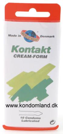 10 stk. WORLDS BEST - Kontakt Creme-form kondomer