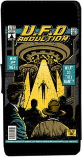 Iphone 5 / 5s ufo abduction vintage serietidning fodral skal