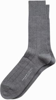 Falke Lhasa Rib Sock Strømper Lys grå