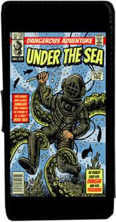 Iphone 5 / 5s under sea vintage serietidning fodral skal plå