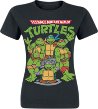Teenage Mutant Ninja Turtles - Group -T-skjorte - svart