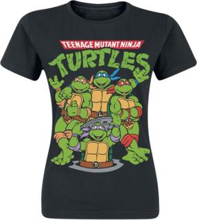 Teenage Mutant Ninja Turtles - Group -T-skjorte - svart