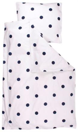 Økologisk sengetøj - Freds World - 140x200 cm - Dot hvid - Home-tex
