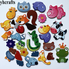 1SET(18PCS) Snake Cow frog Owl mouse squirrel animals puzzle fridge magnet Creative home decoration Early learning Educational